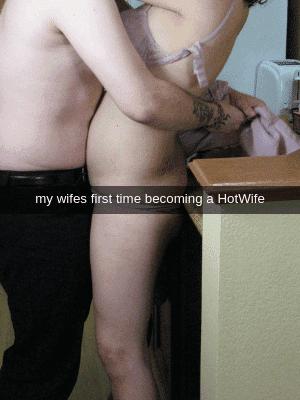 hotwife hugging new boyfriend
