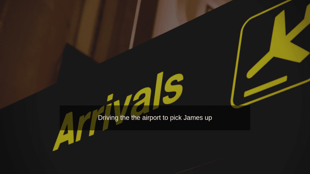 arrivals at the airport