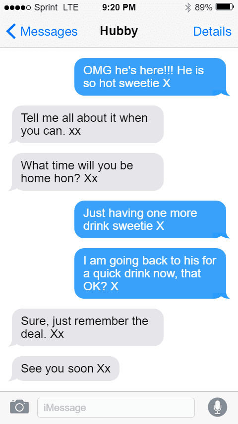 hotwife texts with man