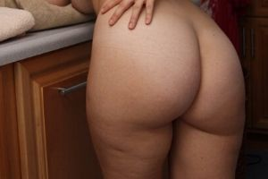 woman showing off her butt