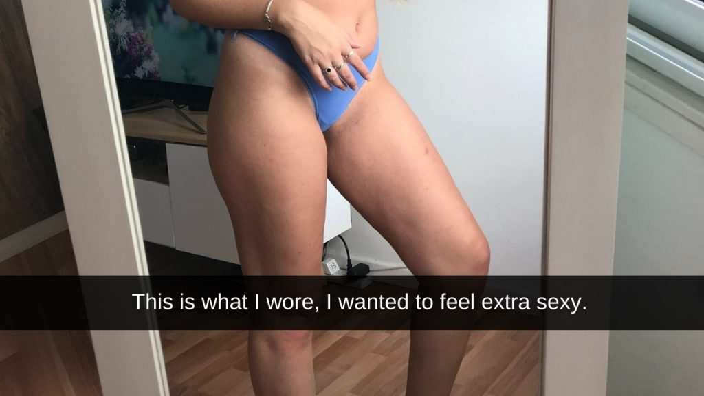 woman in blue panties