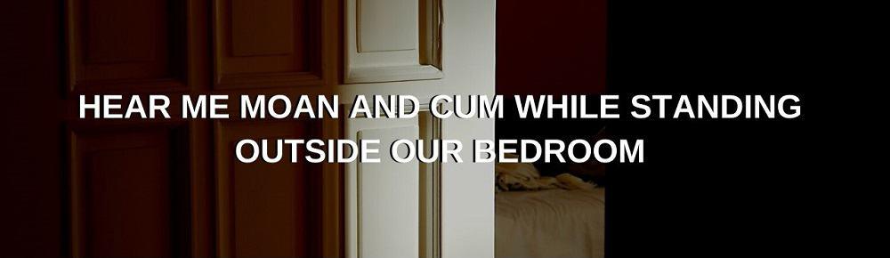 looking through a slightly open bedroom door